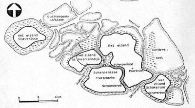 Het eiland Tholen omstreeks 1400