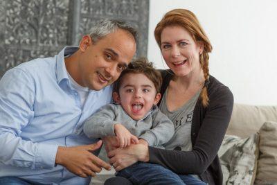 Jasper met zijn ouders