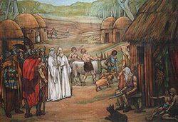 Voorstelling Keltisch dorp aan het begin van de jaartelling