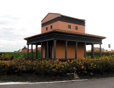 Reconstructie van een tempel voor Nehallenia