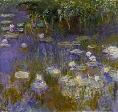 De tuinen met de vijvers van Monet