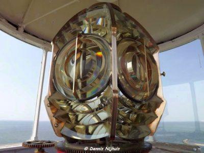 Fresnel lens in de vuurtoren - Foto Dennis Nijhuis