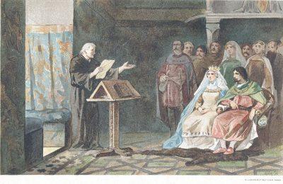 19de eeuwse weergave van Melis Stoke aan het hof van Jan II van Avesnes, graaf van Holland en Zeeland
