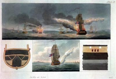 Afbeelding van de Congrave raketten