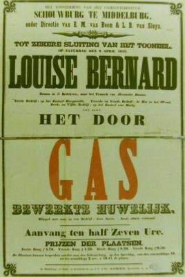 Affiche uit 1853