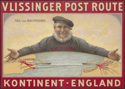 Affiche voor de Stoomvaart Maatschappij Vlissingen op Engelend