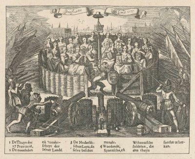Allegorie van de pacificatie van Gent