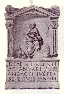 Altaarsteen gewijd aan Nehalennia