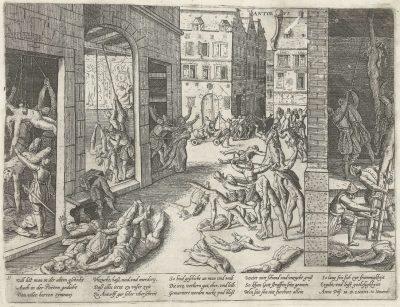 Antwerpen wordt geplunderd tijdens de Spaanse Furie