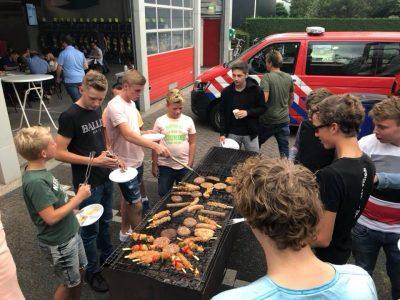BBQ bij de brandweer