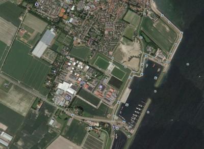 Bedrijventerrein Bruinisse - foto Googel Earth