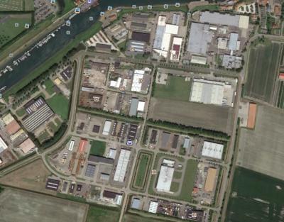 Bedrijventerrein Straalweg - Foto Google Earth