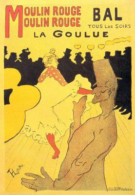 Bekende affiche van Toulouse Lautrec