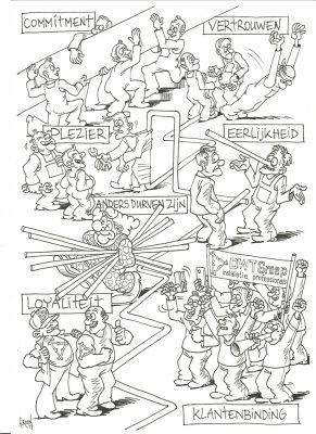 Cartoon in opdracht van DWT-Groep