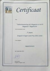 Certificaat Eropuit in Eigen Land