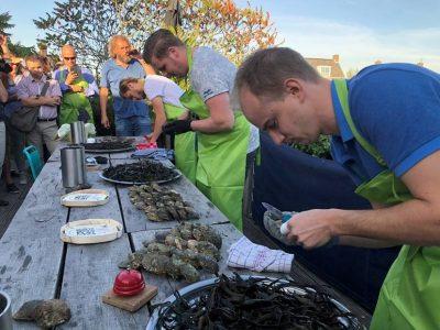 De 3 finalisten aan de slag van L n R Corné van Dijk van rest de Vluchthaven, Jeroen Hoep van restaurant Petit Kitchen & Bar en de winnaar Joost Deurloo van restaurant BRU 17