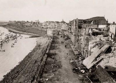 De Boulevard van Vlissingen na de verwoestende bombardementen