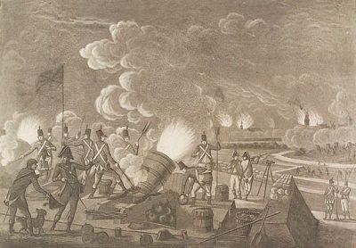 De Engelse aanval op Vlissingen - 1809 A. Lutz,. (Zeeuws Archief)