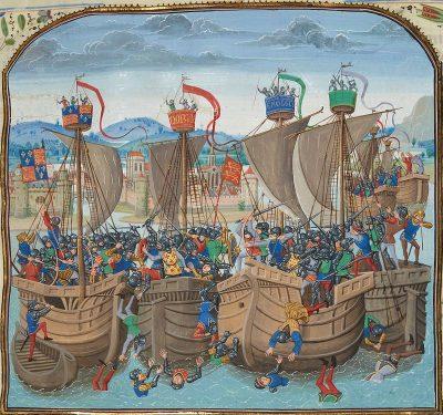 De Franse vloot in slagorde