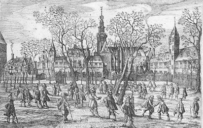 De Hof van Zeeland in Middelburg, waar de Saten vergaderden (collectie Zeeuws Genootschap, Zelandia Illustrata)