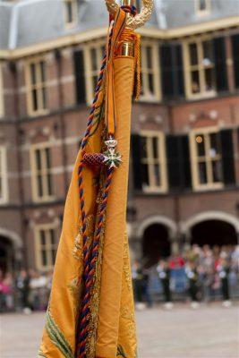 De Militaire Willems Orde op het vaandel van de fusiiers van de Prinses Irene Brigade