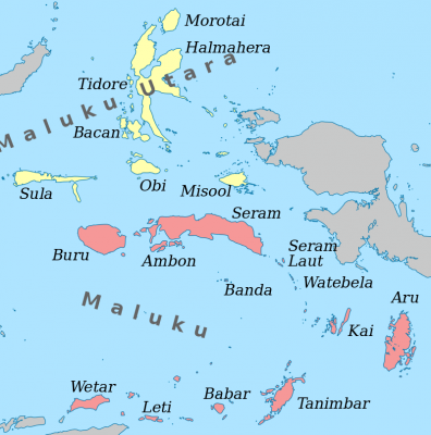 De Molukken met centraal Banda