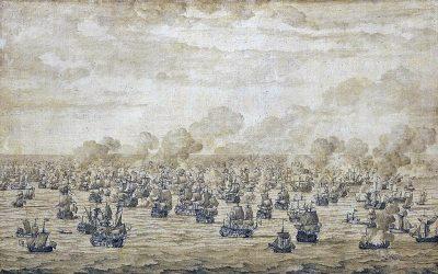De Slag bij Schooneveld door Willem van de Velde de Oude