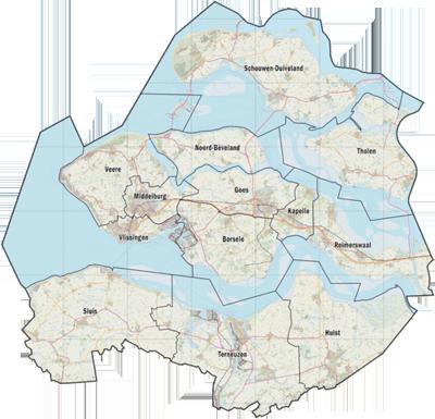 De gemeenten van Zeeland