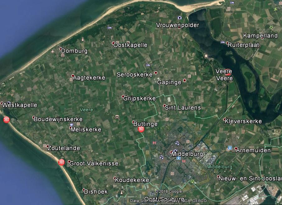 De huidige gemeente Veere