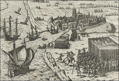 De inname van Den Briel in 1572 naar Frans Hogenberg