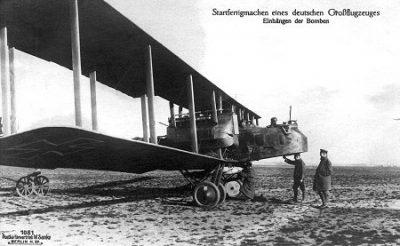 De ook gebruikte GothaG5 van het Duitse leger