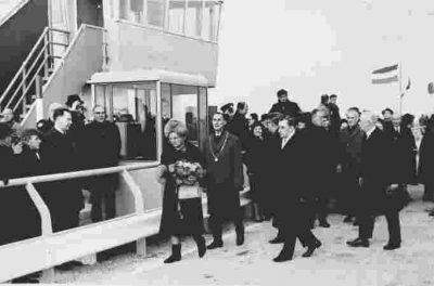 De opening door koningin Juliana.