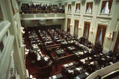 De oude zaal van de Tweede Kamer