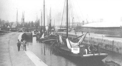De sluis bij Hansweert in 1910