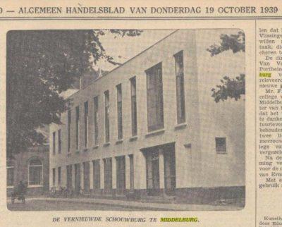 De vernieuwde chouwburg haalde zelfs de nationale pers in 1939