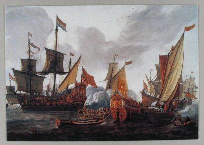 De vloot van Crijnssen op de rede van Veere