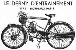 Derny zoals in gebruik tot ca. 1950