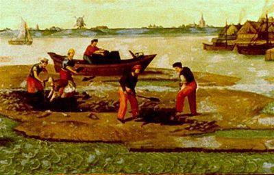 Detail schilderij Darinkdelven