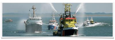 Diverse soorten hulpverleningschepen