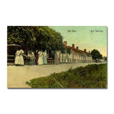 Een armoedig straatje in 1905, het Slop