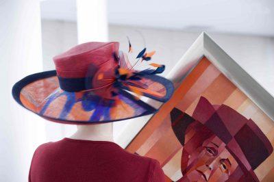 Een creatie van Hanny Mallekote, Atelier Hoed Gezien