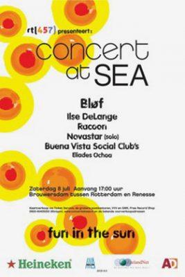Eerste poster van het Concert at Sea