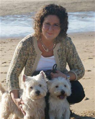 Ellen, vaak aan het strand te vinden.