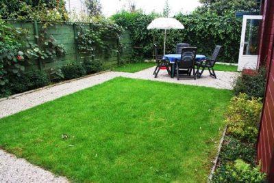 En een ruime tuin