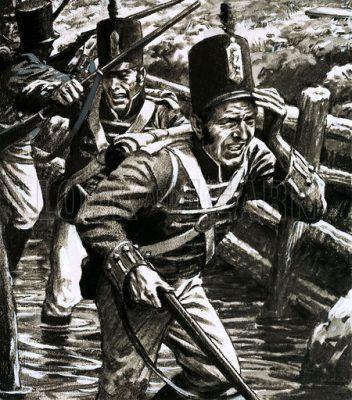 Engelse soldaten tijdens de Walcherenexpeditie