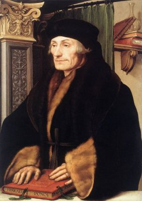 Erasmus naar een schilderij van Holbein