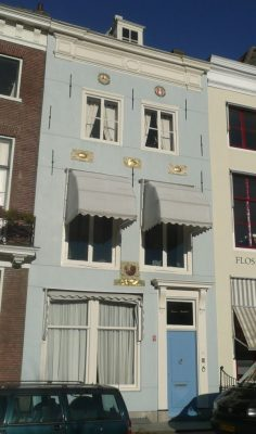 Geboorte en woonhuis van Franchoys Ryckhals aan de dam in Middelburg