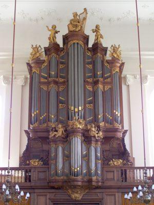 Gelijkaardig orgel van Bätz in de Lutherse kerk in Den Haag - Foto Ed Geels
