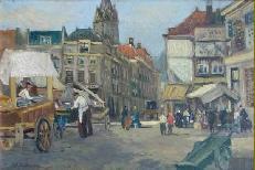 Gezicht op de Grote Markt te 's Gravenhage, Olieverf op doek, Collectie Haags Historisch Museum