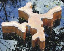 Glenn Priester-waterjuweel- in wortelvorm-rood-koper